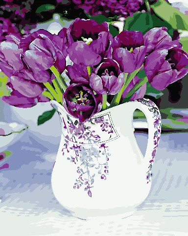 Живопись по номерам Тюльпаны в кувшине ArtStory AS0674 40 х 50 см