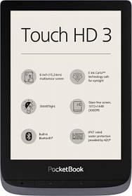 PocketBook 632 Touch HD 3  Metallic Gray Wi-Fi,Bluetooth