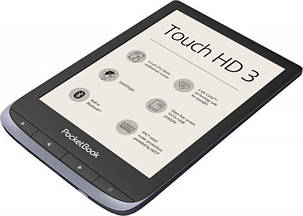 PocketBook 632 Touch HD 3  Metallic Gray Wi-Fi,Bluetooth, фото 2