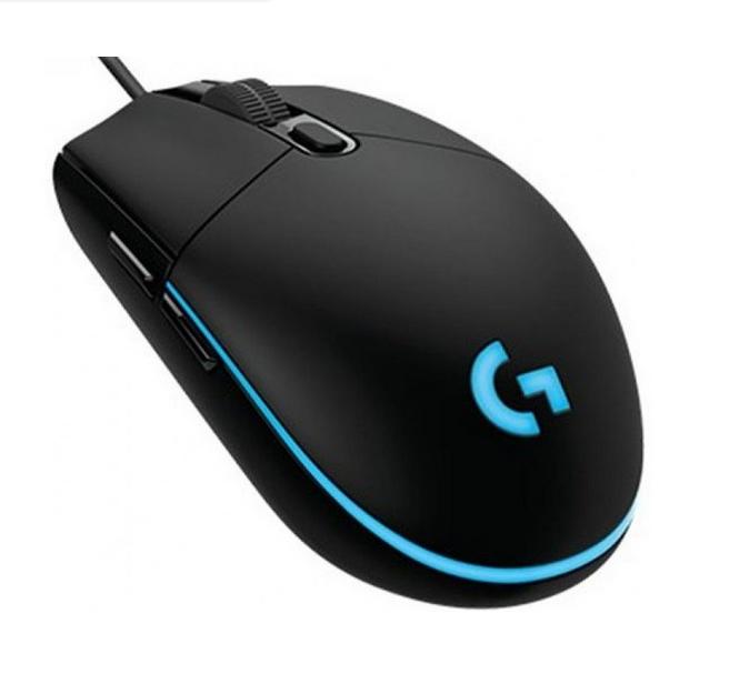 Мышь проводная для геймеров Logitech G102 USB, Цвет Чёрный, RGB подсветка