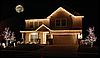 "Внешняя LED гирлянда Бахрома (B0028) ""Icicle"" 5 метров Flash мерцание Желтый, 180 Ламп белый провод, фото 4"