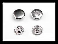 Кнопка-застежка Альфа 4201 свет. никель 10 мм