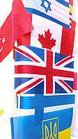 Флаги всех стран мира (24 см на 12 см) в ассортименте в количестве