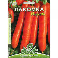 """Семена моркови """"Лакомка"""" (15 г) от ТМ """"Велес"""""""