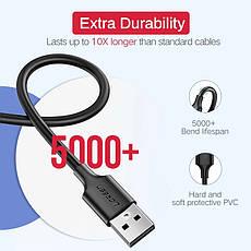Оригинальный кабель UGREEN MicroUSB Fast Charge 2.4A быстрая зарядка 2.4A White, фото 3