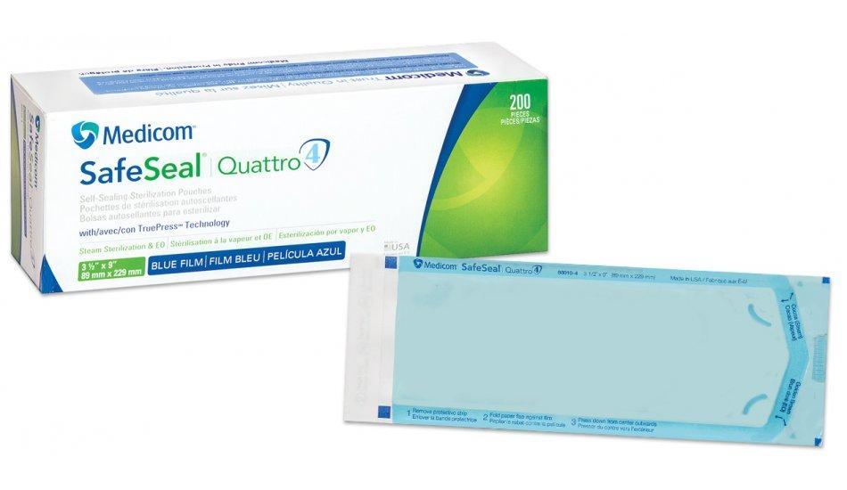 Стерилизационные пакеты самоклеющие 57х102 мм