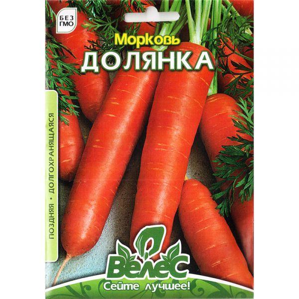 """Семена моркови """"Долянка"""" (15 г) от ТМ """"Велес"""""""