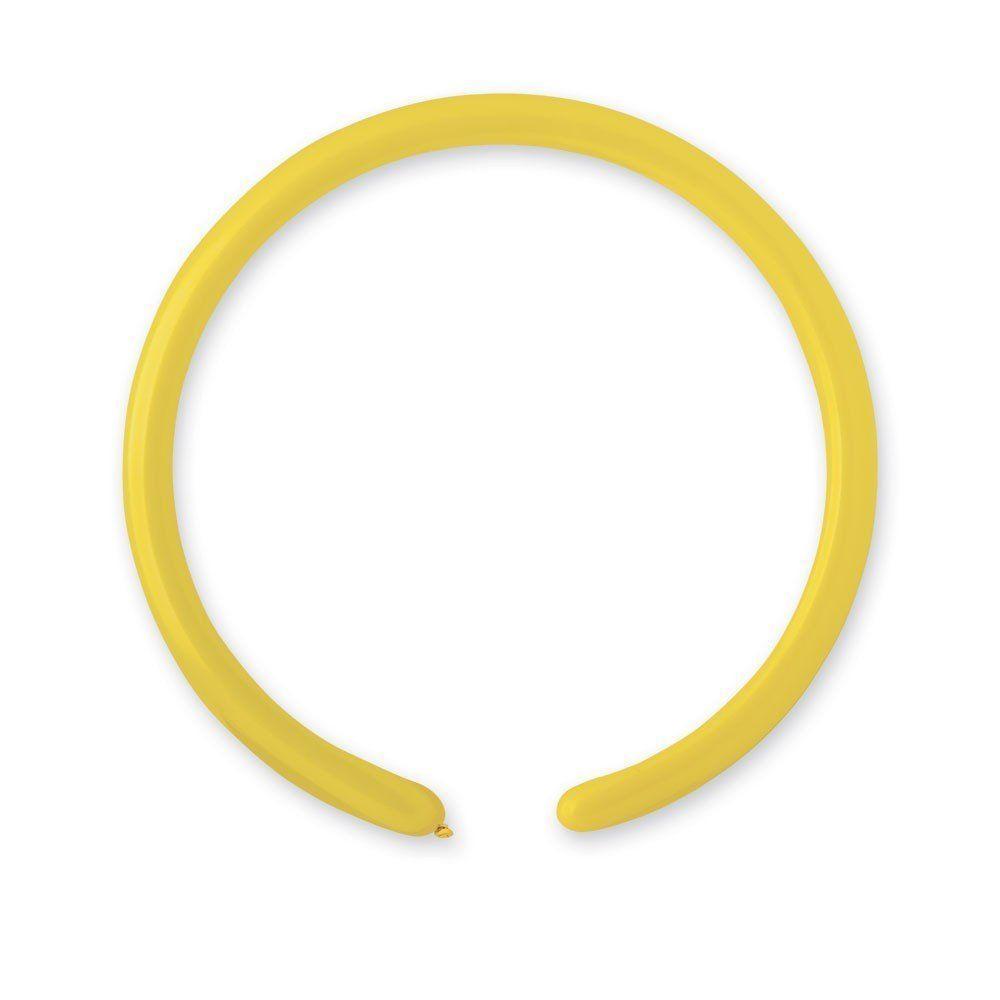 Воздушные шары ШДМ 260-2 /02 Пастель Желтый (Yellow) 100шт