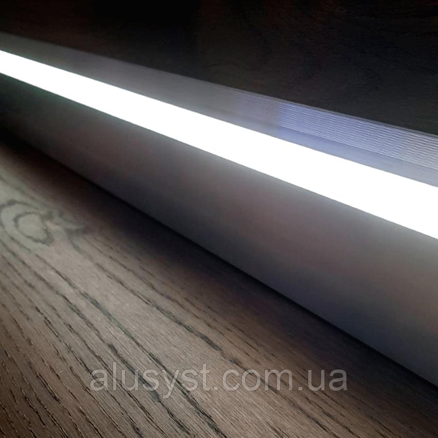 LED плинтус скрытого монтажа, без покрытия, 2 метра