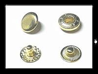 Кнопка-застежка Альфа 4215 золото 12,5 мм