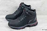 Мужские кожаные зимние ботинки/кроссовки, фото 1