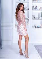 Платье расшитое пайетками спина ажур в расцветках 74040, фото 2