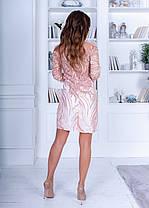 Плаття розшите паєтками спина ажур в кольорах 74040, фото 3