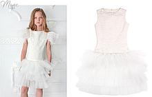 Гламурное платье для девочки  ТМ МОНЕ р-ры 122-140