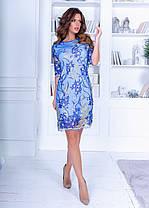 Платье ажурное кружево в расцветках 74155, фото 2