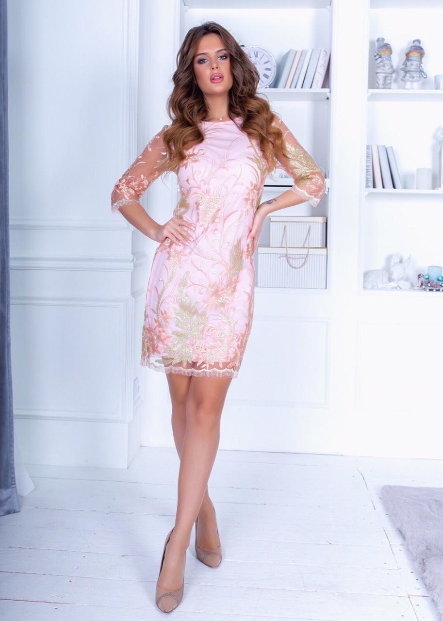 Платье ажурное кружево в расцветках 74155