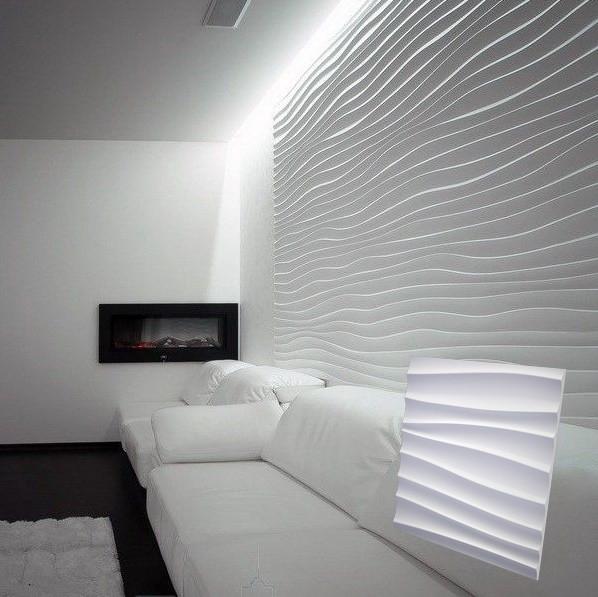 """Гіпсова 3d панелі для стін """"Дюна Велика"""" (декоративна стінова 3d панель)"""