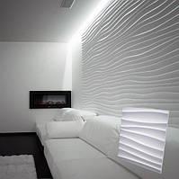 """Гіпсова 3d панелі для стін """"Дюна Велика"""" (декоративна стінова 3d панель), фото 1"""