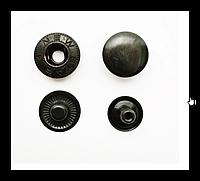 Кнопка-застежка Альфа 4214 тем. ник. с черной шляпкой 12,5 мм