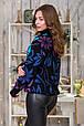 Модный вязаный свитер Вероника (черный, джинс, слива, голубой)(44-52), фото 2