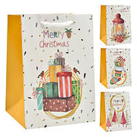 """Пакет подарочный бумажный """"Новогодний"""" 44*31*12см  БОЛЬШОЙ  только по 12 штук"""