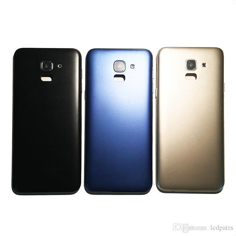 Задняя крышка Samsung J600F Galaxy J6 (2018), черная, Оригинал
