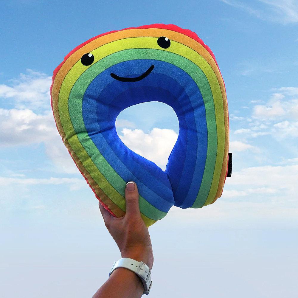 Дорожная подушка Веселая радуга 32x30 см (DOP_18S002)