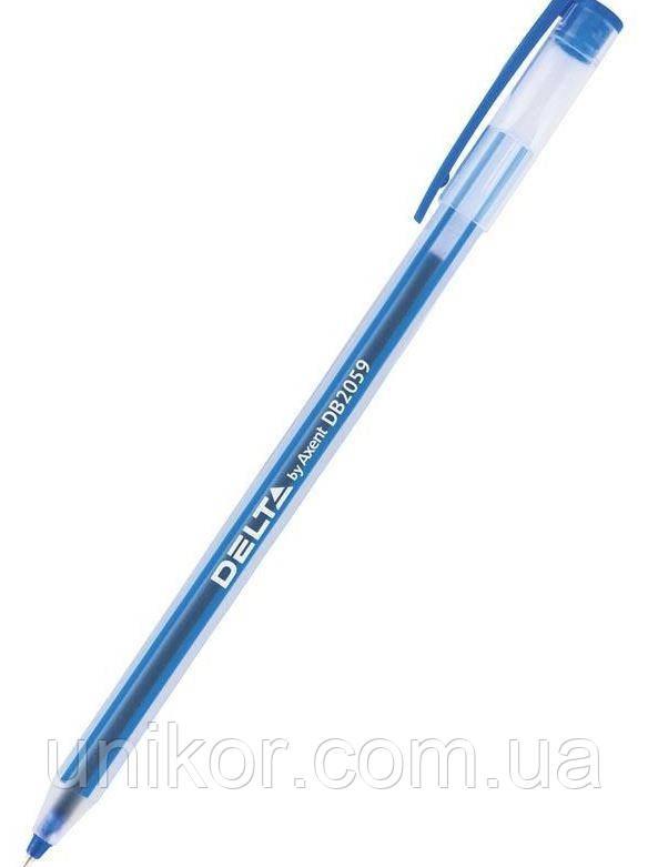 """Ручка шариковая масляная, """"DB2059"""", корпус матовый, стержень синий. Delta by Axent"""
