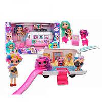 Кукла Хэрдораблс TM255, 16см(шарнирная), автобус 23см, животное, мебель