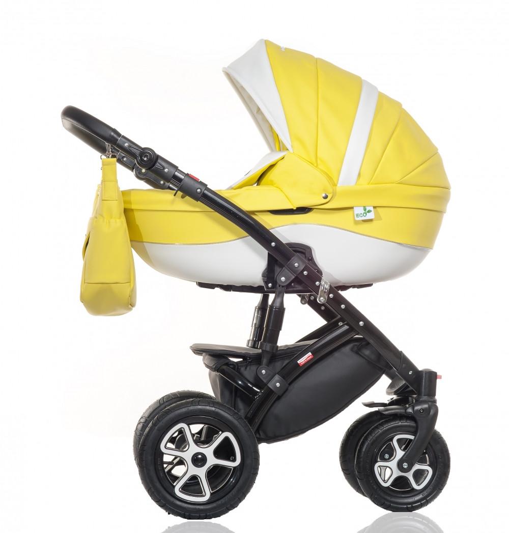 Коляска Broco Eco 01 желтый 2в1