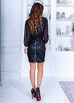 Платье юбка экокожа 74812, фото 3