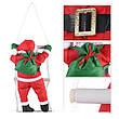 Новогодняя игрушка Подвесной Santa Декор для Дома Санта Клаус Дед Мороз 50 см с Мешком на лестнице, фото 3