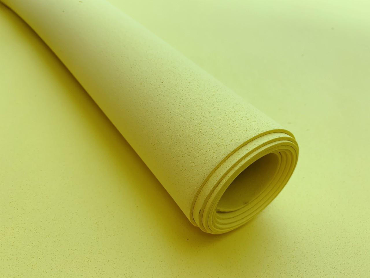 Эва, фоамиран 2 мм  100х150 см желтая