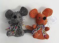Мягкая игрушка Мышь-брелок на присоске