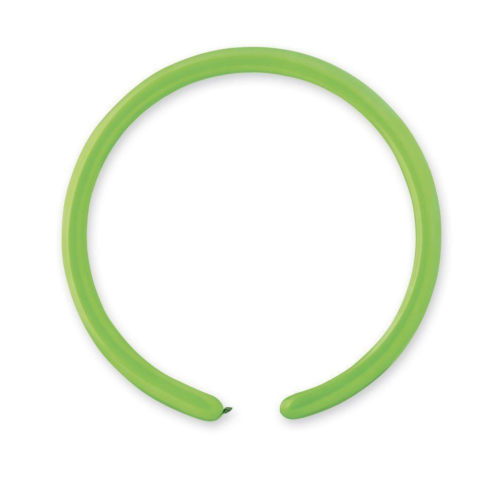 Повітряні кулі GEMAR ШДМ 260-2 /12 Пастель Світло-зелений (green Light) 100шт
