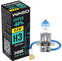 """Автомобильная галогенная лампа """"Winso"""" H3 Hyper +60% 3400K (12V)(55W)"""