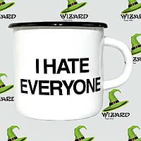 Дизайнерская кружка I hate everyone