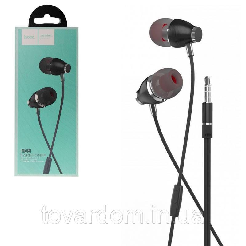 Наушники Hoco M28 White + mic