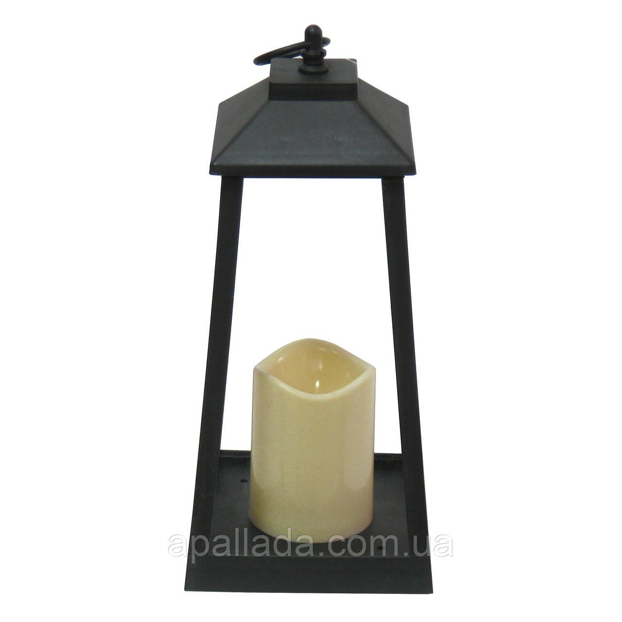 Подсвечник с свечой, 32*15*15 см