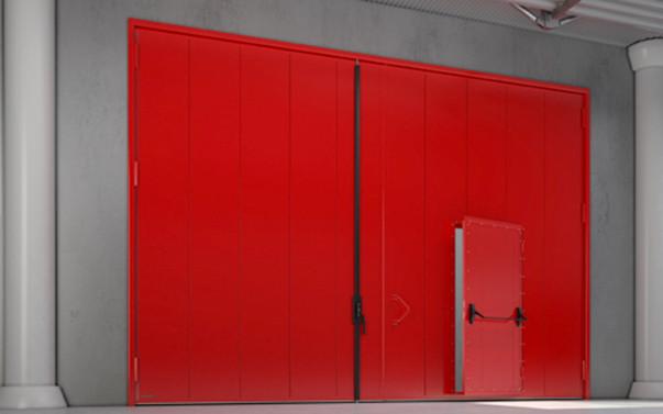 Распашные противопожарные ворота DoorHan EI90, EI120