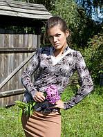 Женский пуловер с воротником-стойкой (M, L), фото 1