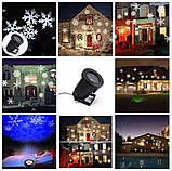 Лазерний проектор для будинку Star Shover СНІГ Криву №608 ZP | гірлянда лазерна підсвічування для будинку, фото 4