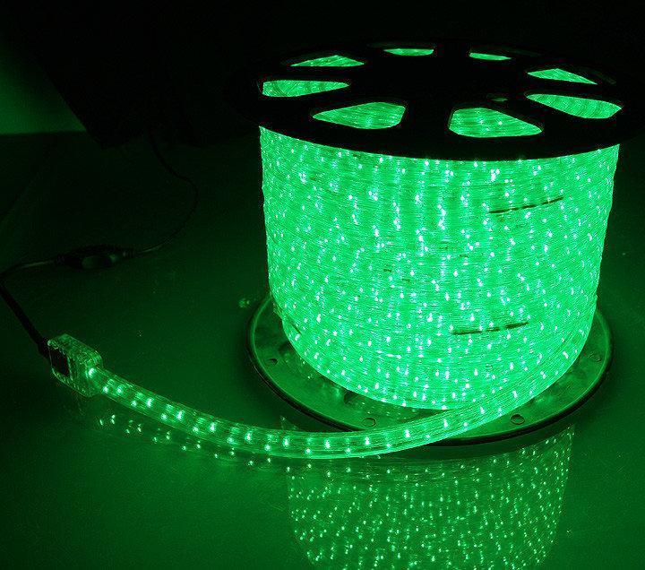 """Уличная Герметичная Светодиодная гирлянда Дюралайт (D0021) """"Rope Light"""" 100 метров Зеленый, 1800 LED"""