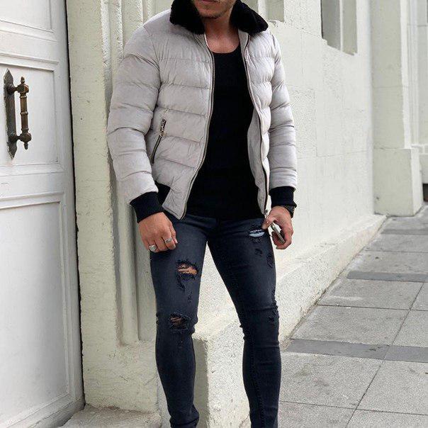 Мужская утепленная куртка на меху, Турция (два цвета)