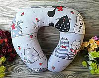 Подушка для подорожей кошенята-мишенята, 41 см * 34 см