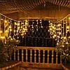"Уличная Cветодиодная гирлянда Бахрома (B0046) ""Icicle"" 5 метров Flash мерцание Теплый Белый, 120 LED, фото 2"