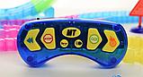 Дитячий іграшковий трек для машинок на пульті управління DAZZLE TRACKS 187 деталей | конструктор траса, фото 3