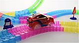 Дитячий іграшковий трек для машинок на пульті управління DAZZLE TRACKS 187 деталей | конструктор траса, фото 4
