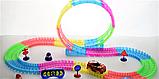 Дитячий іграшковий трек для машинок на пульті управління DAZZLE TRACKS 187 деталей | конструктор траса, фото 6