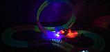 Дитячий іграшковий трек для машинок на пульті управління DAZZLE TRACKS 187 деталей | конструктор траса, фото 8